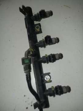 Rampa con inyectores mas bobina cn cables para fiat fire 1.4 como nuevo