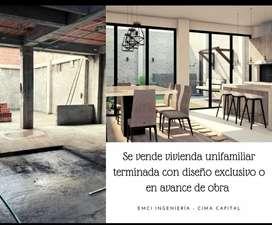 Se vende casa unifamiliar terminada  con diseño exclusivo o en avance de obra barrio el retiro.