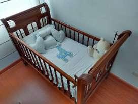 Cuna madera pino para Bebé