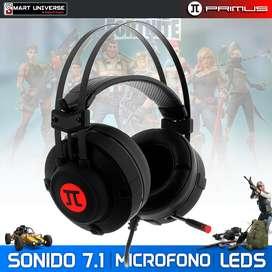 Auricular Gamer Primus Phs-150 ARCUS 150T Sonido 7.1 LED USB