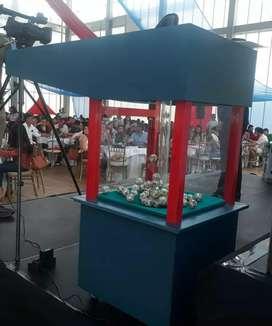 Maquina bingo solidario anfora balotera fundaciones