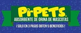 PI PETS ABSORBENTE DE ORINA DE MASCOTAS