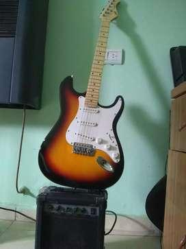 Guitarra Challenger y amplificador