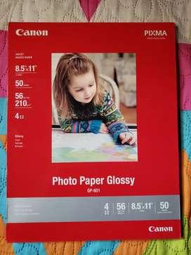 Papel fotografico canon