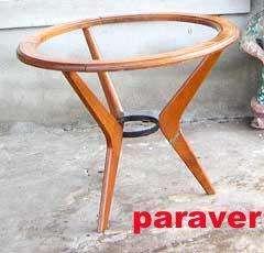 Rara mesa ratona restaurada a nuevo diseño retro vintage 60 pop impecable como okm lustrada