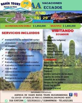 TOUR POR EL ECUADOR SALIDA JUNIO 19