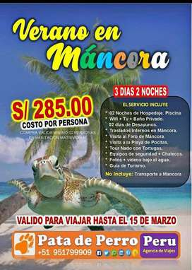 Verano en Mancora 3D 2N