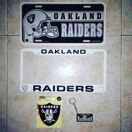 Placa Decorativa Raiders Nfl
