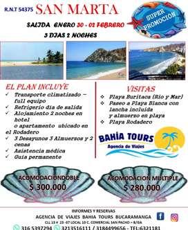 Gran remate de vacaciones tour santa marta unico dia enero 30