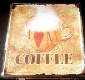 Cafe - Placa  30 Cm X 30 Cm.