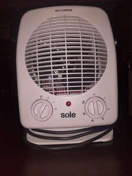 Termo ventilador de mesa, marca Sole