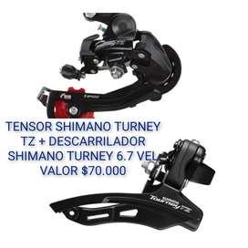 TENSOR Y DESCARRILADOR SHIMANO TURNEY TZ RD-TZ-500
