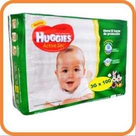 Pañales Huggies Etapa 3x100 unidades
