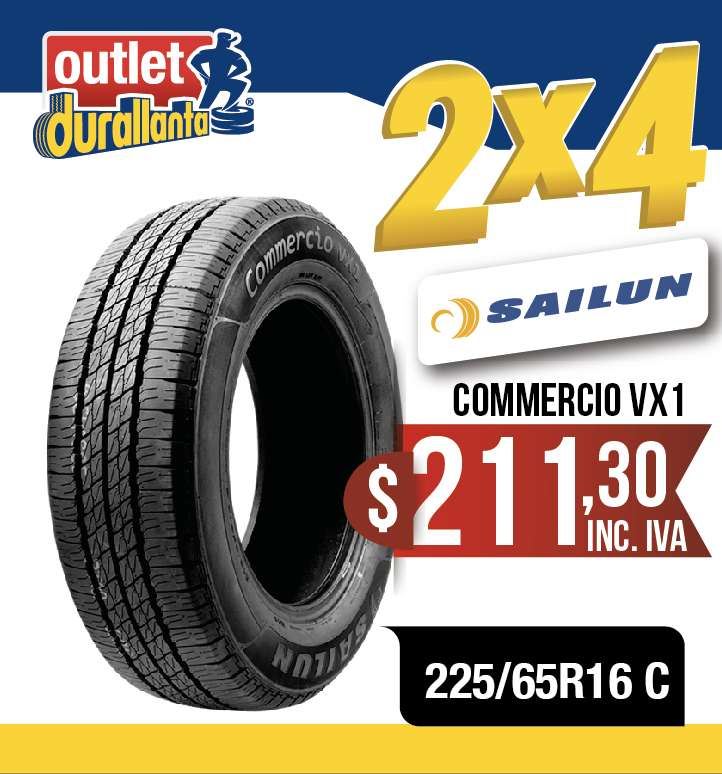 LLANTAS 225/65R16 C SAILUN COMMERCIO VX1 Tracker  D150 Grand Caravan  Compass B-Series 0