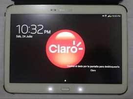 """Tablet casi nueva Samsung Galaxy Tab3 10.5"""" Vidrio Templado y Forro Original + Cargador Vidirio"""