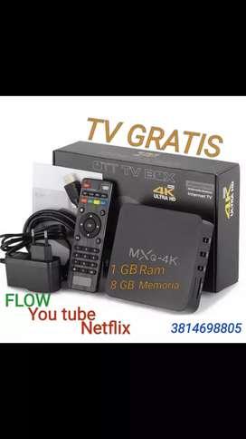 Tv box mqx 4k 1gb y 2gb de ram