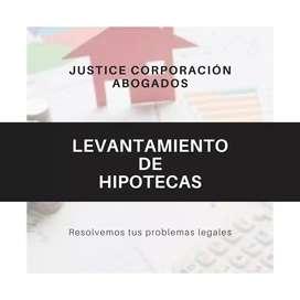 Abogados Asesores Legales LEVANTAMIENTO DE HIPOTECAS