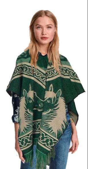 Poncho Caballos Mexicano dama