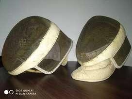 cascos esgrima antiguos