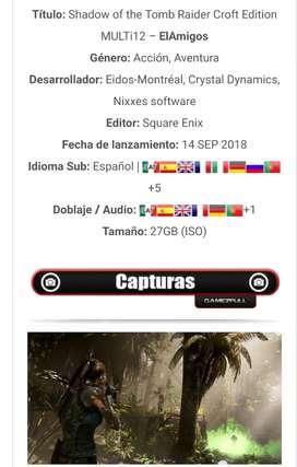 Shadow of the Tomb Raider Juegos para Pc