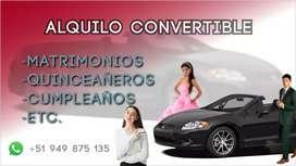 Alquiler de auto convertible para eventos