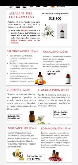Aceites puros, extractos