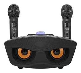 Parlante Bluetooth Karaoke Doble Micrófono Inalámbrico Usb