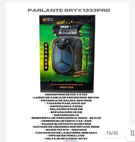 Parlante bluetooth Orix Led Con microfono karaoke