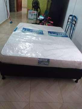 Base cama con colchon nuevos