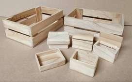 Estuches en madera