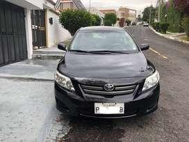 Toyota Corolla 1.6, 5 Puertas (2009), 150.000 kms de Recorrido Color Negro, Placa de Pichincha Terminada en 8