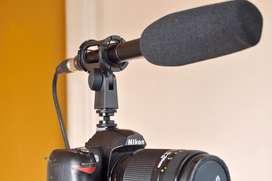 Soporte Para Microfono Shotgun Camara Montura De Suspension