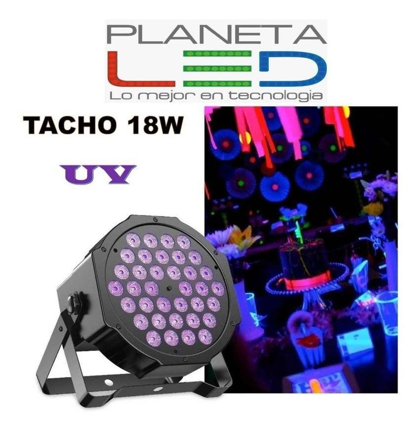 Tacho Led 18w Luz Uv Negra Potente Dmx Discotec Audioritmico 0