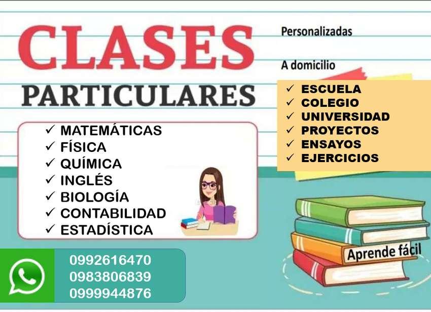 Clases particulares. Clases particulares a domicilio. Clases de matemáticas. Clases de fisica. Clases de química. inglés 0