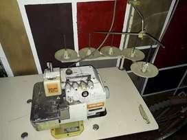 Máquina de coser, remalladora Siruba, 5 hilos