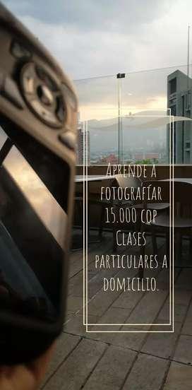 Aprende fotografía básica con cámara o celular(clases particulares) Medellín