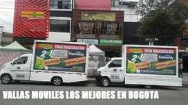 Vallas Moviles disponibles en Bogota cotice ahora mismo