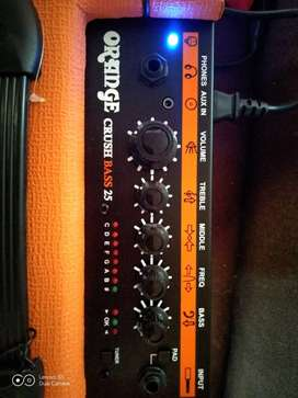 Amplificador para bajo nuevo Orange CRUSH 25 watts rms 50 watts peak