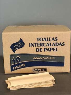 Toalla intercalada blanca caja x 10 fajillas
