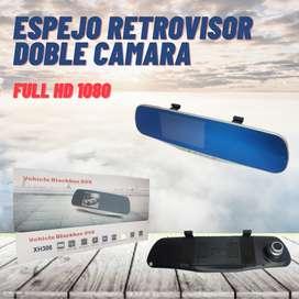 Espejo retrovisor doble camara full HD carro 4.3