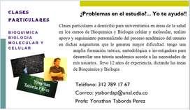 clases particulares de bioquímica y química