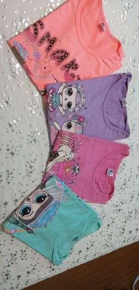 Camisetas y leggins para niña