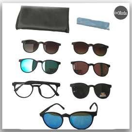 Marco de lentes con gafas