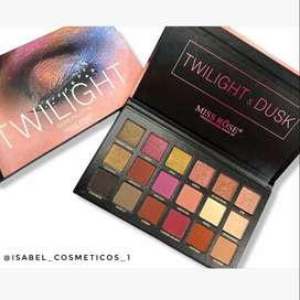 Maquillaje , sombras twiligth miss rose