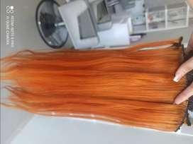 Extensiones de cabello cobrizas