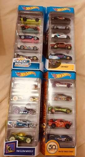 Hotwheels Pack de 5 Autos de Coleccion hot wheels