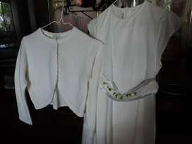 Vestido De Comunion O Cortejo Talle 12 Con Limosnera
