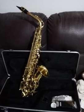Se vende saxofon alto marca neworleans