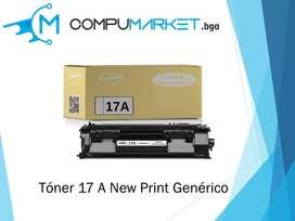 Toner 17A para HP generico New Print nuevo y facturado.Sin Chip