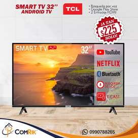 """TV SMART TCL ANDROID 32"""" NUEVAS"""